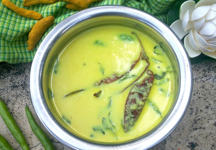 Spiced Cooked Buttermilk(Pulisherry)