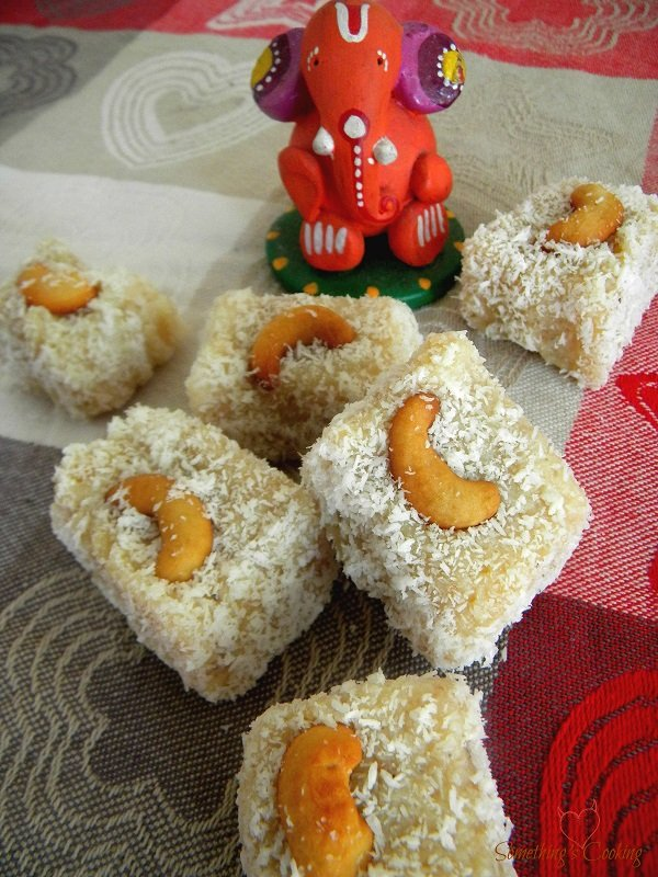 Coconut Barfi with Condensed Milk