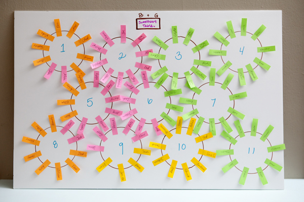 large party seating chart tutorial