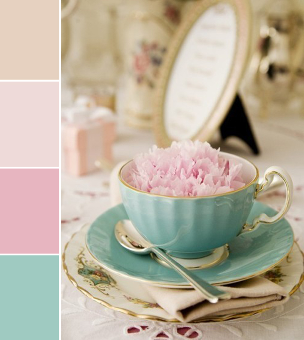 peony in a tea cup... perfect for a bridal shower