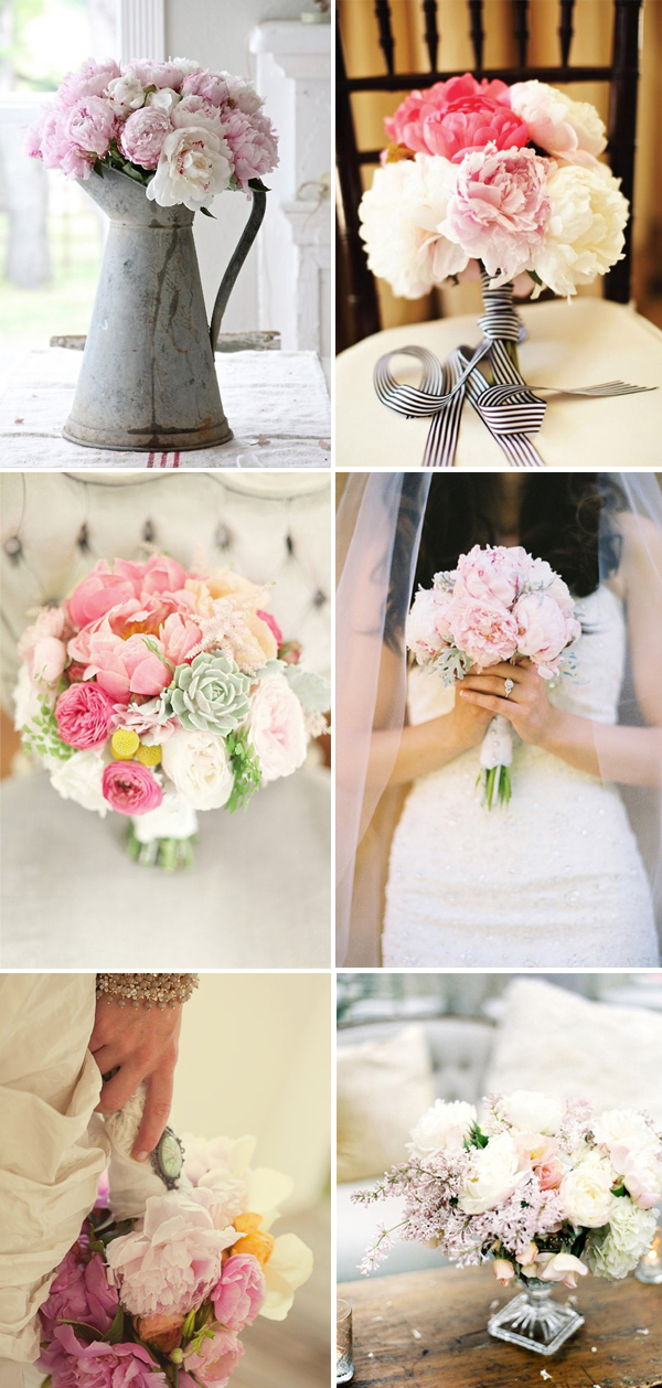 peony wedding flower round up!