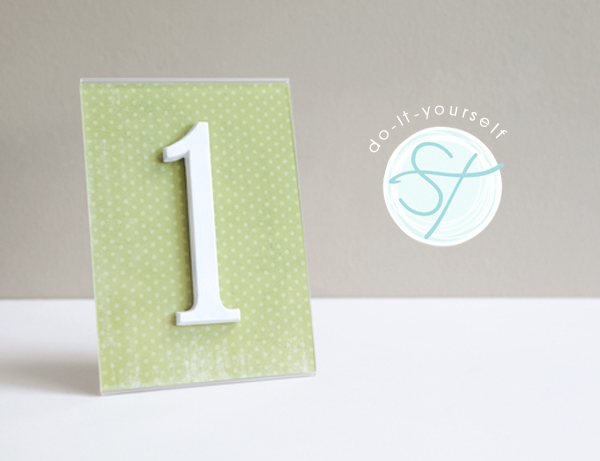 house address numbers as wedding table numbers