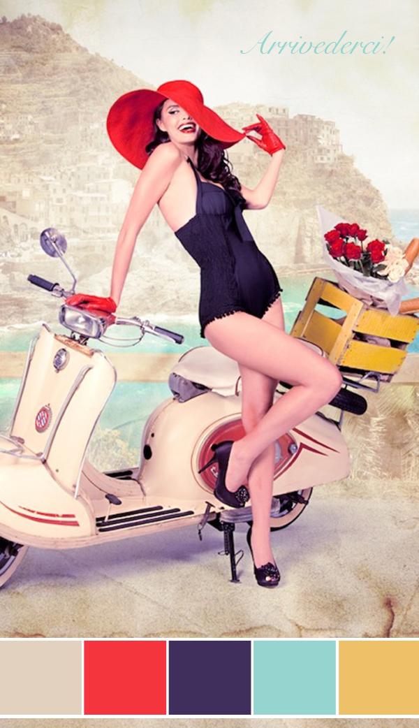 vintage italian pin-up girl