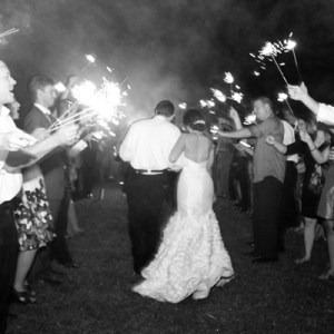 Reese Moore Weddings - Runnymede Plantation - sparkler exit