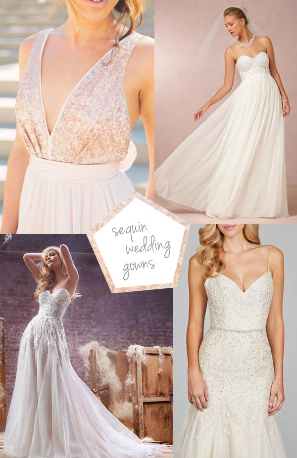 sequin wedding dresses