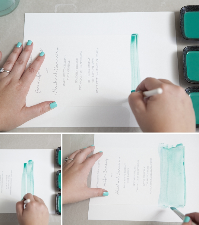 How to watercolor your wedding invitations!