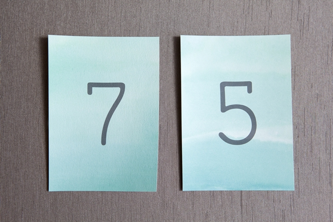 How to watercolor your wedding table numbers!