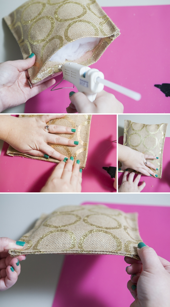 How to easily make a burlap ring bearer pillow...