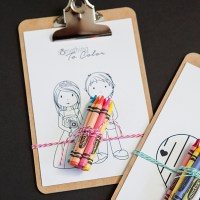 Simple DIY | Kids Coloring Clipboard Favor