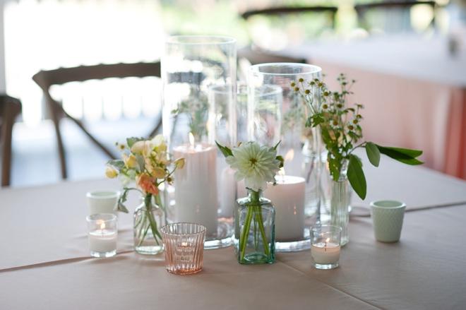 garden wedding tables