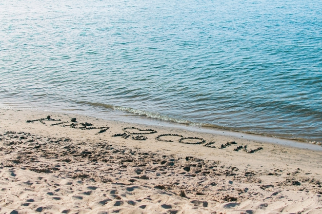 names written in the sand