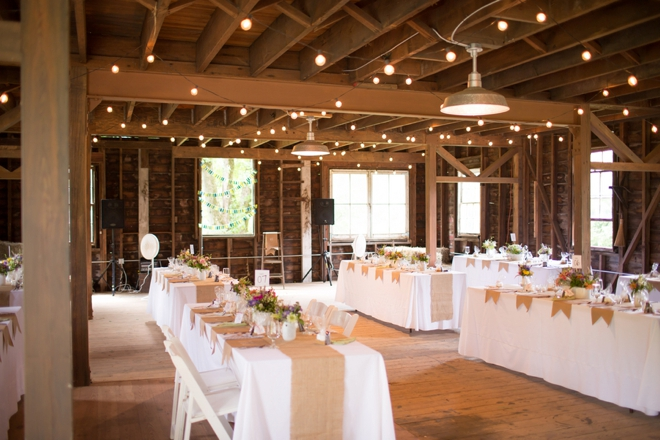 DIY barn wedding decor