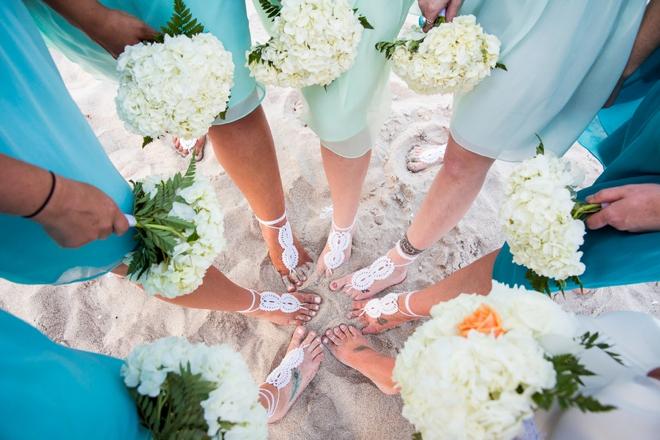 Beach wedding sandal anklets