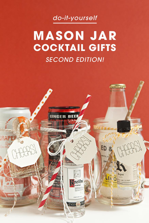 The original diy mason jar cocktail gifts for Idea diy door gift