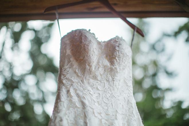 Beautiful lace Maggie Sottero wedding dress