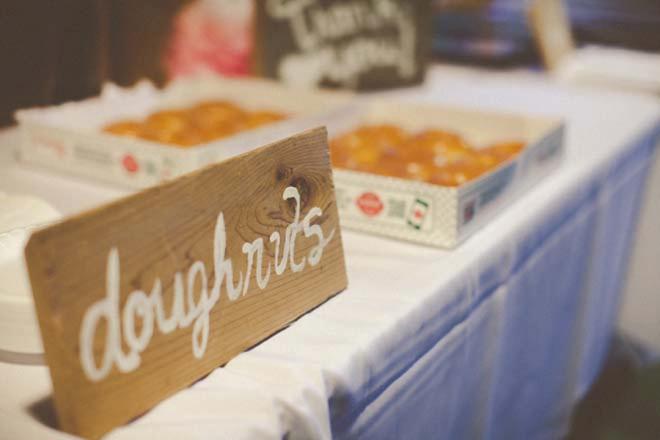 Late night wedding doughnuts!