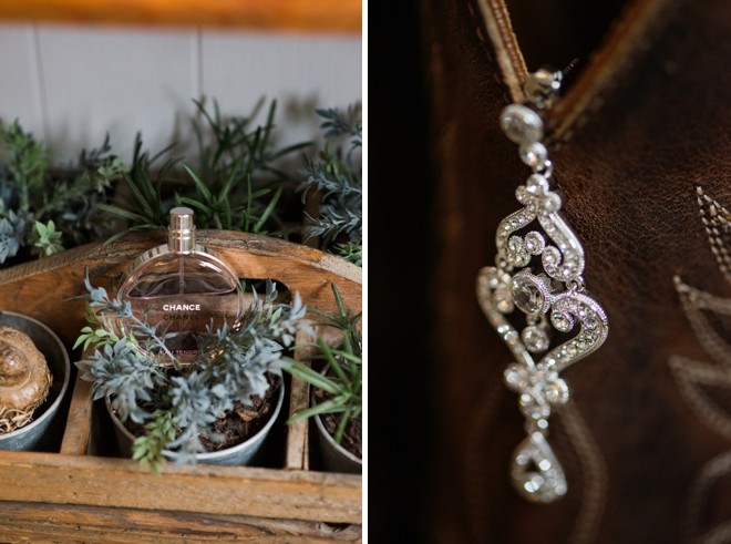 Earrings and perfume