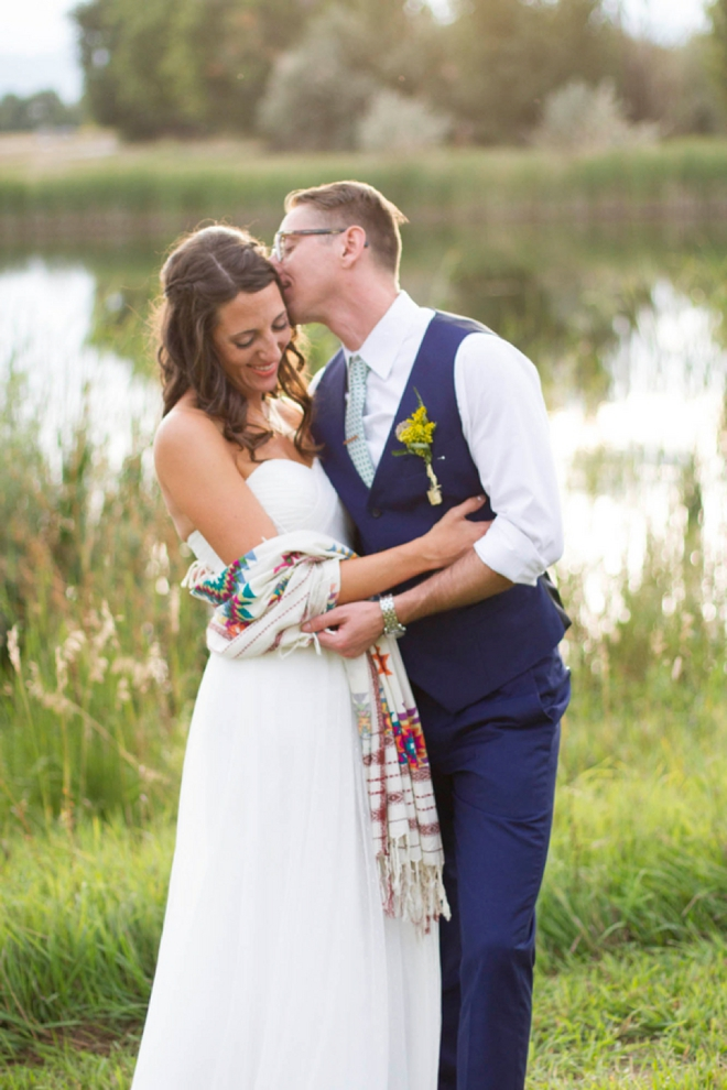 Gorgeous gold and navy blue diy wedding