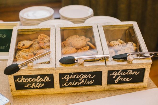 Cookies for wedding dessert