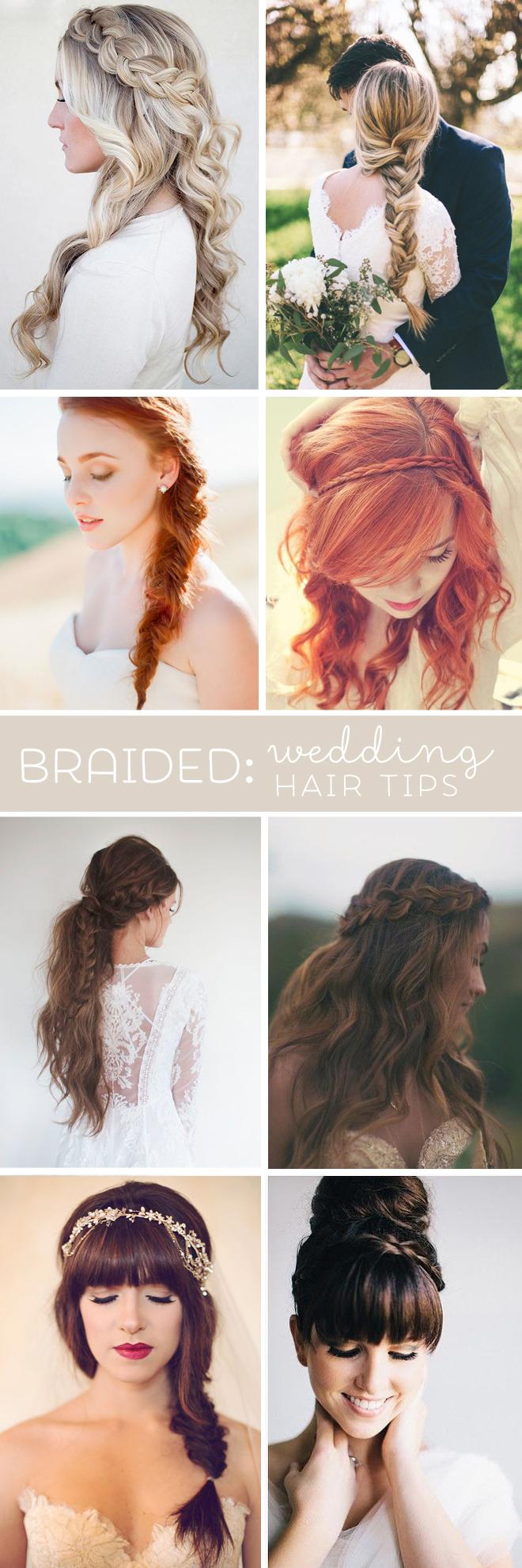 "Wedding hair tips for ""braids"""