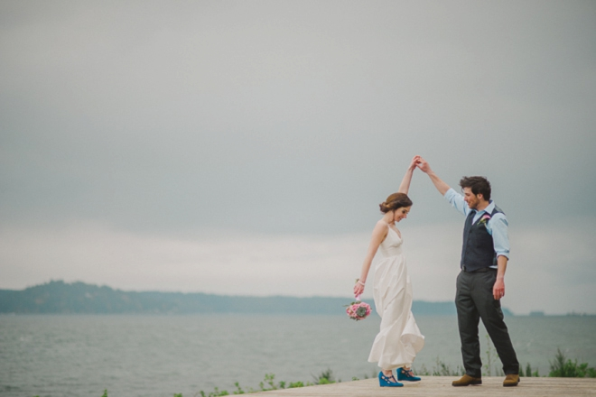 Beautiful DIY beach wedding from Erin Wallis Photography