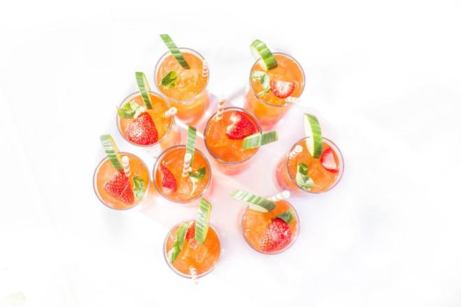 Yummy wedding cocktails!