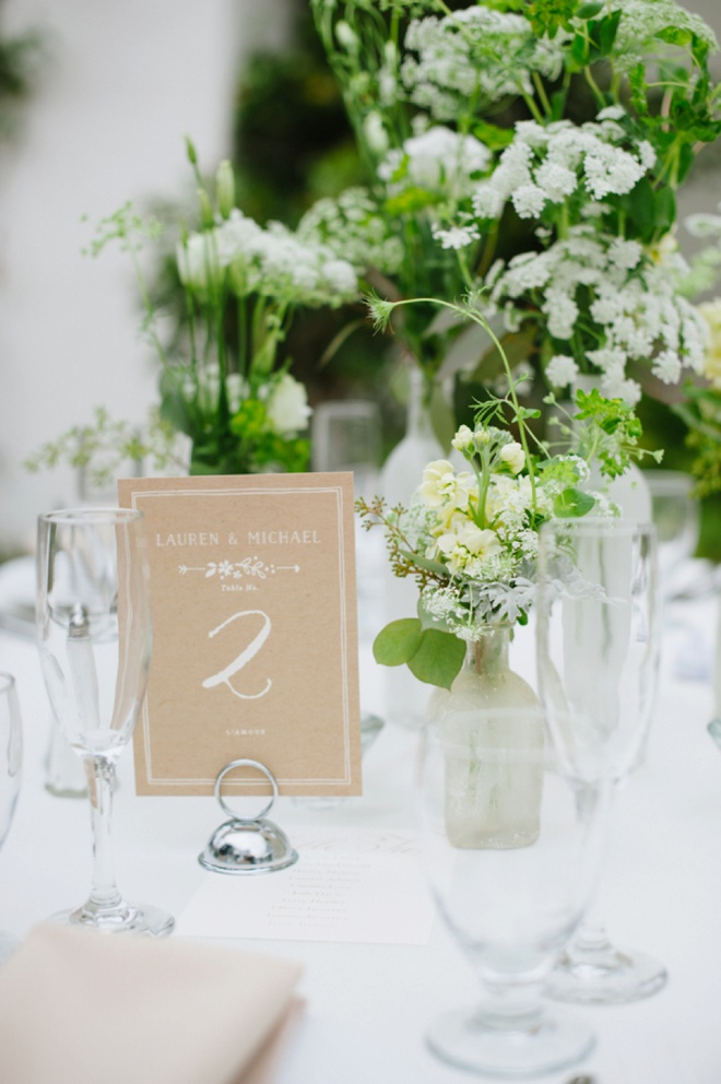Gorgeous all white and green wedding tablescapes