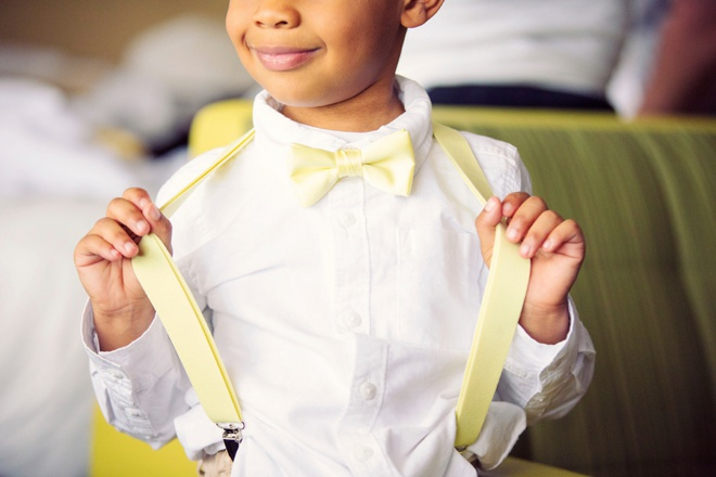 Darling ring bearer with yellow fashion