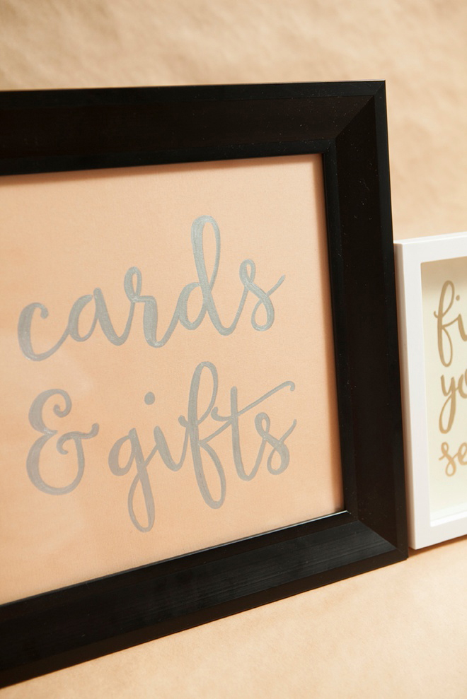 DIY cards and gifts wedding sign.