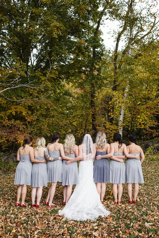 The Bride and Her Bridesmaids!