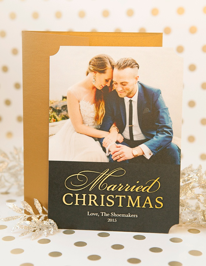 DIY Your Newlywed Holiday Cards With Shutterfly