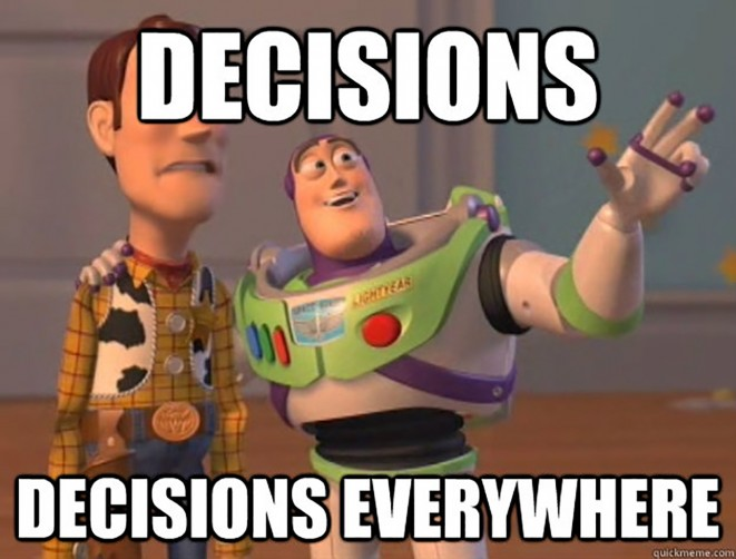 Decisions Are Everywhere Meme