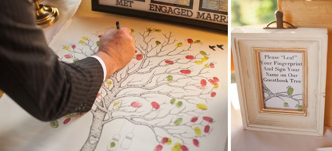 Loving the thumbprint guest book!