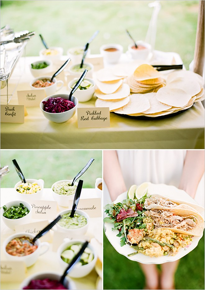 Wedding taco bar DIY
