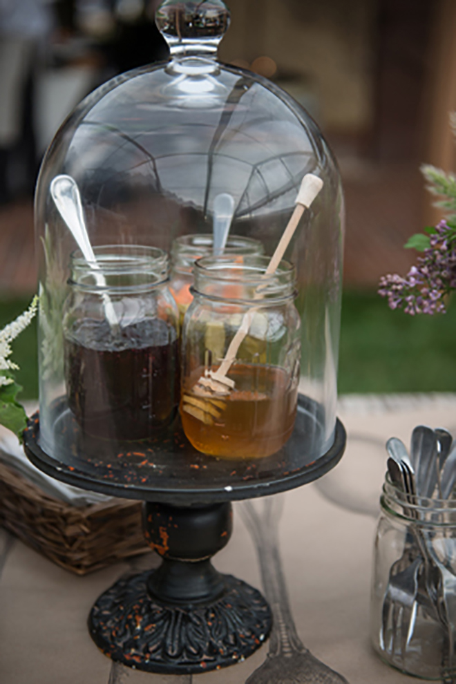 Adorable syrup station idea!
