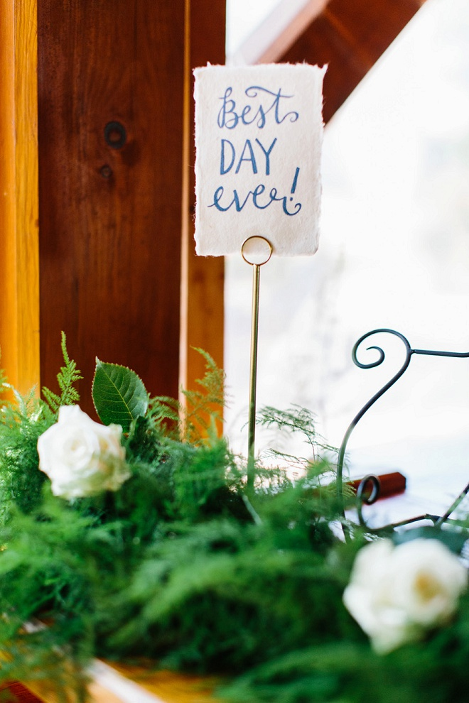 Loving the darling handlettered Best Day Ever sign!