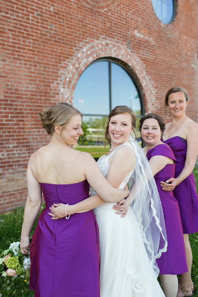 We're loving this Bride and her bright Bridesmaid's! Perfect for spring!