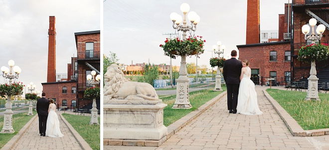 We're loving this gorgeous Bride and Groom at their dreamy outdoor Canadian wedding!