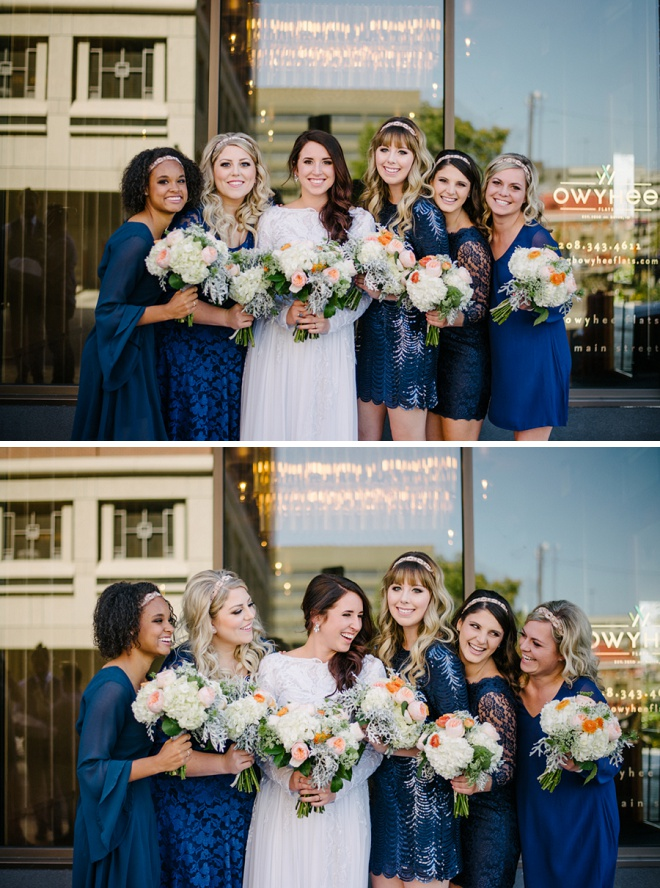 Darling photo of these gorgeous bridesmaids!