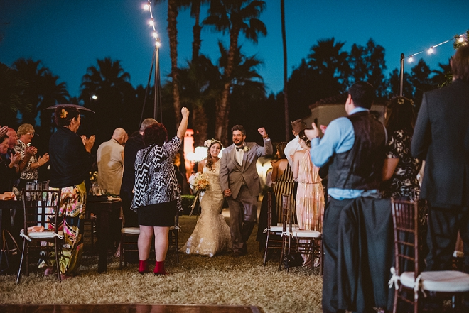 We're swooning over this gorgeous boho-chic Palm Springs wedding!