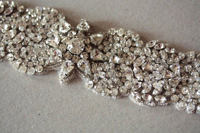 Make a statement with a large wedding day cuff! LOVE!