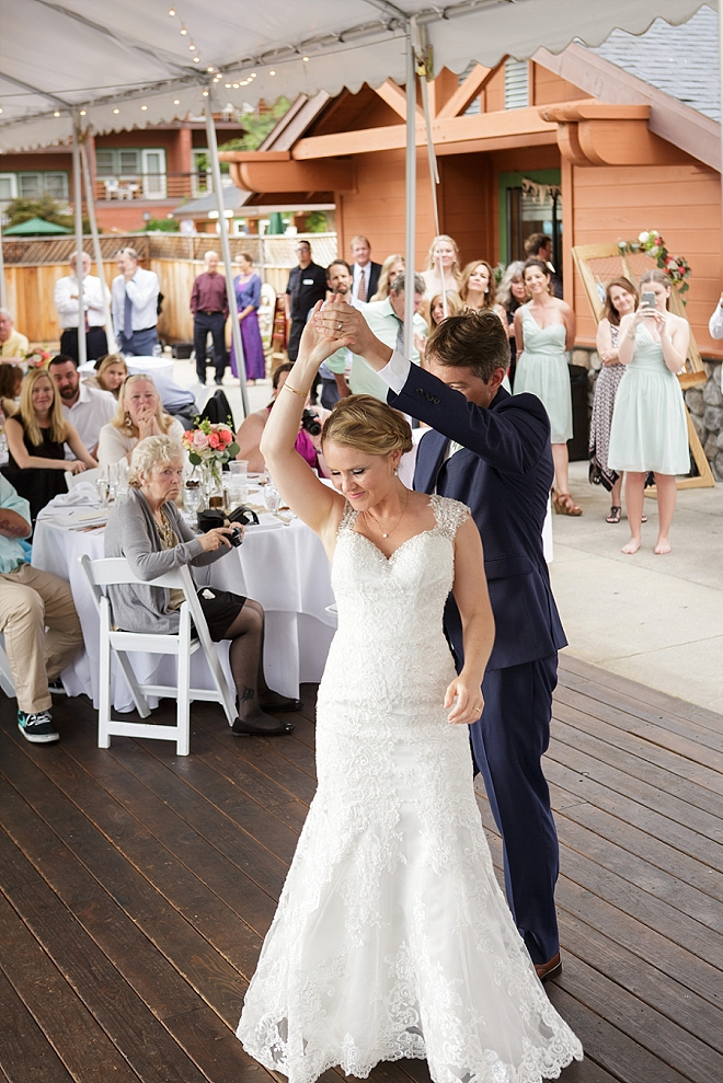 Super sweet snap of the first dance as Mr. and Mrs!