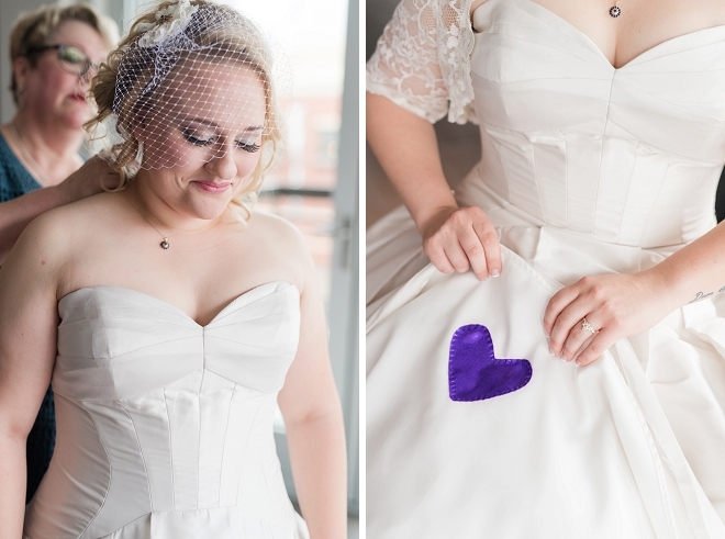 We love all of this Bride's meaningful wedding day details!
