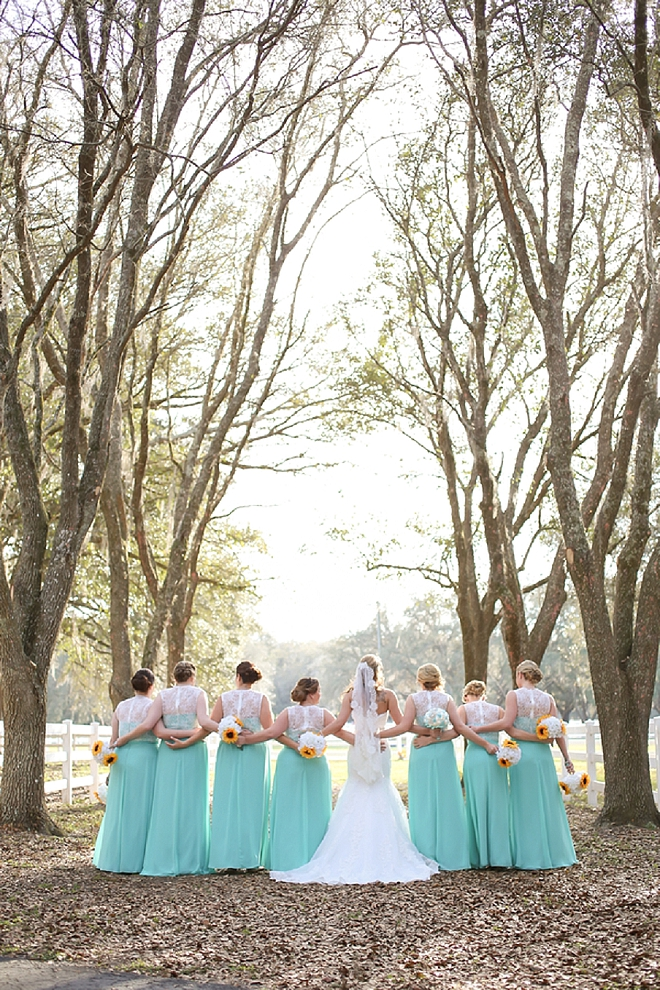 We love this snap of the Bride and Bridesmaid's before the ceremony!