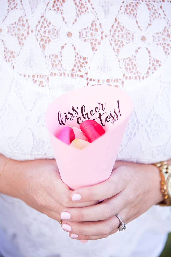 Petal toss for your ceremony? SO much cute with these handmade floral toss!