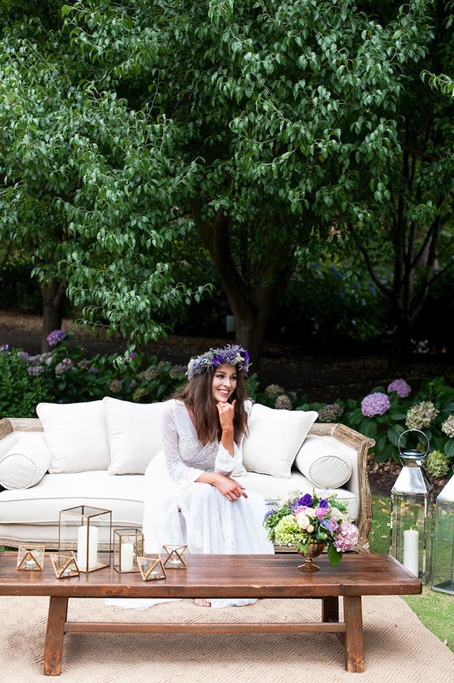 I love the idea of having an outdoor lounge area at my wedding.  Would need to find a couch and misc. decor to do it!