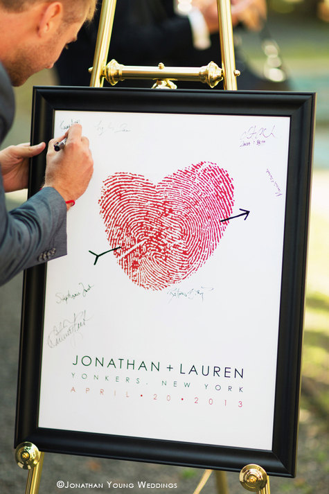 How darling is this thumbprint guest book for your wedding day?