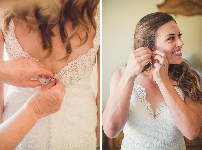 The beautiful Bride getting ready for the first look!
