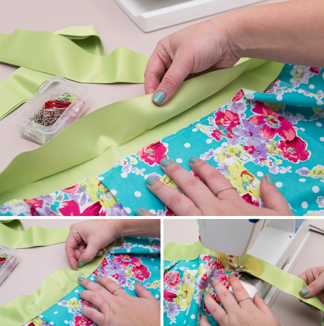 Check out this adorable DIY apron that doubles as a bridal shower guest book!