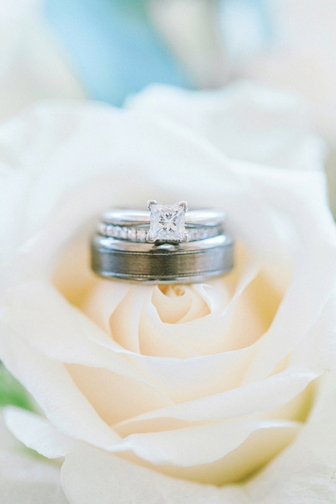 We love this blush rose and ring shot!! Stunning!